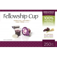 Fellowship Cup Box of 250 - Prefilled Communion Bread & Cup