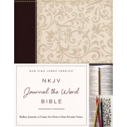 NKJV Journal the Word Bible IL Brown/Cream