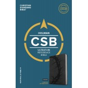 CSB Ultrathin Reference Bible, Charcoal Leathertouch, Indexe
