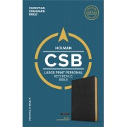 CSB Large Print Personal Size Reference Bible, Black Leather