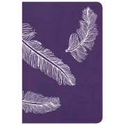 CSB Compact Ultrathin Bible For Teens, Plum Feathers Leather