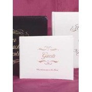 Small Bonded Leather All Occasion Guest Book - White