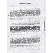 Christian Legal Handbook Assembly Property