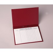 Attendance Registration Pad Holder - Red Cloth (Pkg of 3)