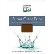 CEB Super Giant Print Bible, Padded Brown Hardcover