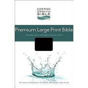 CEB Common English Premium Large Print Bible, Decotone Black