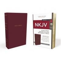 NKJV Reference Bible, Burgundy, Giant Print, Red Letter Ed.