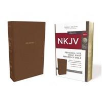 NKJV Reference Bible Personal Size Giant Print, Tan