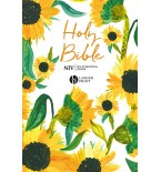 NIV Larger Print Bible, Sunflowers