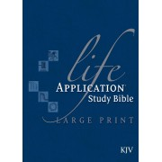 KJV Life Application Study Bible, Large Print, Blue