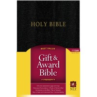 NLT Gift And Award Bible Black