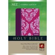 NLT Compact Bible Tutone Fuchsia Floral