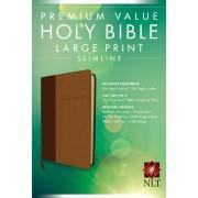 NLT Premium Value Large Print Slimline Bible, Tutone