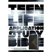 NLT Teen Life Application Study Bible Black Celtic Cross