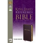 KJV Reference Bible, Giant Print Indexed, Burgundy