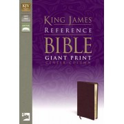 KJV Reference Bible Giant Print, Burgundy