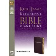 KJV Reference Bible Giant Print Indexed, Burgundy