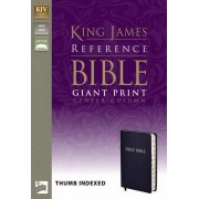 KJV Reference Bible Giant Print Indexed, Navy