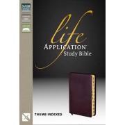 NASB Life Application Study Bible, Burgundy, Indexed