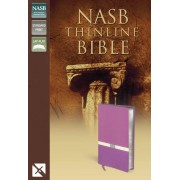 NASB Thinline Bible, Purple/Cream, Red Letter Ed.