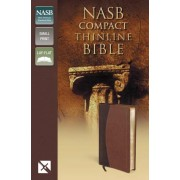 NASB Thinline Compact Bible, Brown, Red Letter Ed.