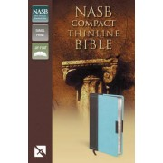 NASB Thinline Compact Bible, Brown/Turquoise