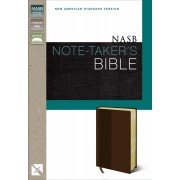 NASB Note-Taker's Bible, Brown, Red Letter Ed.