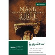 NASB Personal Size Reference Bible, Giant Print, Black