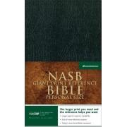 NASB Personal Size Reference Bible, Black, Giant Print