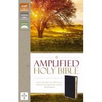 Amplified Holy Bible, Black Bonded Leather
