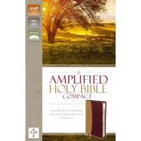 Amplified Holy Bible, Compact, Camel-Burgundy