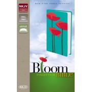 NKJV Bloom Collection Bible Compact, Red/Turquoise