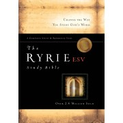 ESV Ryrie Study Bible Calfskin Leather Black Red Letter, The