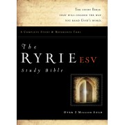 ESV Ryrie Study Bible Genuine Leather Burgundy Red Lette, Th