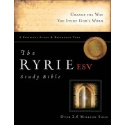 ESV Ryrie Study Bible Hardback Red Letter Indexed, The