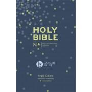 NIV Larger Print Compact Single Column Ref Bible