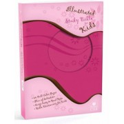 HCSB Illustrated Study Bible For Kids, Pink Simulated Leathe