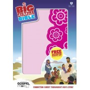 HCSB Big Picture Interactive Bible, Pink Flower Leathertouch