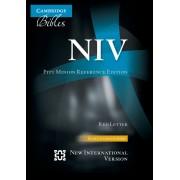 NIV Pitt Minion Reference Edition, Black Calfsplit Leather,