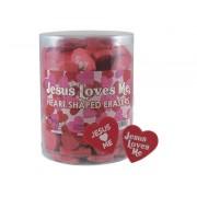 Jesus Loves Me Heart Eraser Pk96
