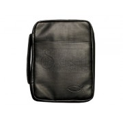Bible Cover Black Fish Imitation Leather Large