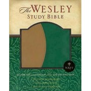 NRSV Wesley Study Bible Green Brown Faux Leather