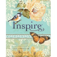 NLT Inspire Bible Blue/Cream