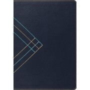 ESV Study Bible TruTone Navy Angle Design