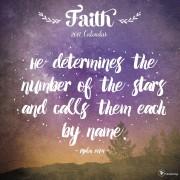 2017 Faith Wall Calendar
